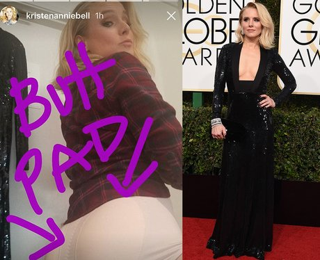 Kristen Bell Golden Globes butt pads
