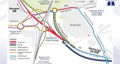 All the diversions on the M8 at Ballieston