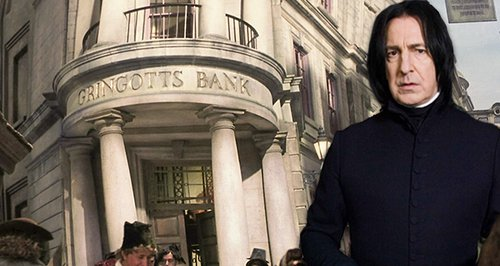 Alan Rickman stole from Gringotts Bank
