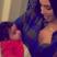 22. Kim Kardashian has shared a first picture of herself with niece Dream Kardashian.