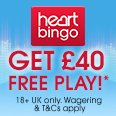 Get 40 free - heart bingo