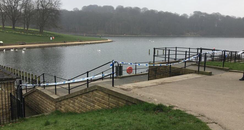 Roundhay park lake police cordon