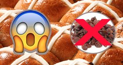 Raisin free hot cross buns