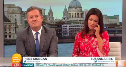 Susanna Reid Shuts Down 'Sex Symbol' Piers Morgan