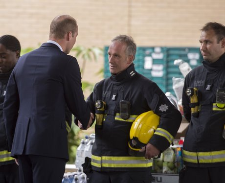 Prince William meets emergency services