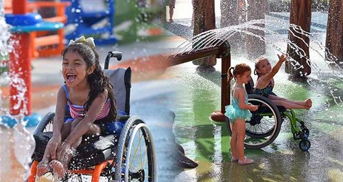 Inclusive Water Park for disabled children
