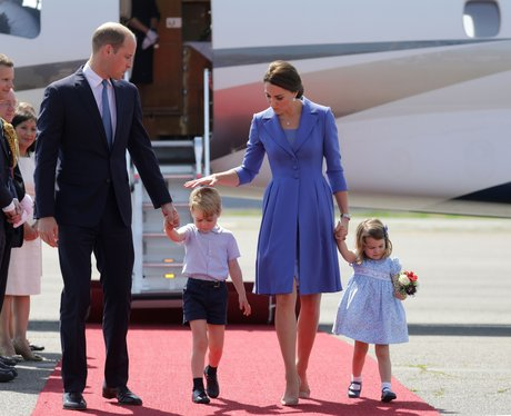 Prince William and Kate with Prince George and Pri