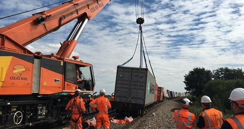 Freight train derailment hits services in East Anglia
